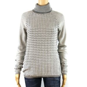 The Limited Women Gray White Sweater Turtleneck